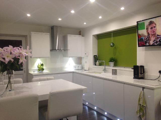 Completed kitchen electrics